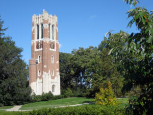 Beaumont Tower on MSU's campus